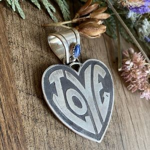 Vintage Jewelry - All you need is LOVE 💙 sterling silver pendant